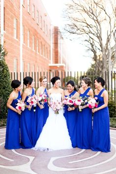 Dallas Wedding At The Filter Building From Tucker Images Royal Blue