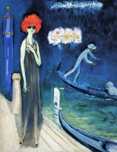 Kees van Dongen - Marchesa Luisa Casati at The Quai Venice, 1921