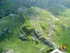 Hattusa. The Royal Citadel of Büyükkale from the air. Hattusa: Founded - 6th mill. BC; Abandoned - ca 1200 BC. Bronze Age, Hittite Culture