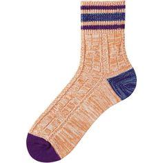 MEN LINE CABLE ANKLE SOCKS Color: 23 ORANGE Uniqlo Men, Ankle Socks, Cable, Orange, Color, Fashion, Cabo, Moda, Socks