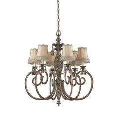 Illumine | 6 Light Chandelier Bronze Finish Soft Back Shades | Home Depot Canada