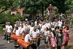 Bali Ogoh-ogoh parade before Nyepi day.