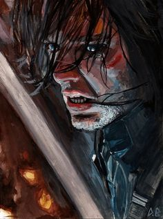 Painting of the wonderful Winter Soldier made by me. Bucky Barnes by ChemicalGlambert8201.deviantart.com on @DeviantArt