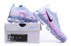 Nike Air VaporMax Flyknit 2 White Hydrogen Blue Pink Women's Running Shoes Tenis Nike Masculino Preto, Tênis Nike Feminino, Relogio Barato, Sapatos Atléticos, Nike Air Max Masculino, Tenis Nike Branco, Sapatilhas Nike, Sapatos Para Garotas, Comprar Tênis