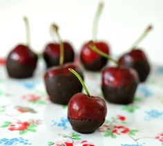 Chocolate dipped cherries, via Flickr.