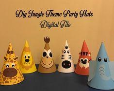29 ideas for birthday diy hat etsy Safari Party, Safari Theme Birthday, Jungle Theme Parties, Baby Boy 1st Birthday Party, Safari Birthday Party, Animal Birthday, 3rd Birthday Parties, Birthday Diy, Jungle Safari