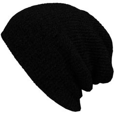 Amazon.com: KBETHOS Heather Slouchy Beanie Skull Cap Hat - BLACK:... found on Polyvore