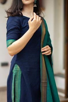 Silk Kurti Designs, Simple Kurta Designs, Churidar Designs, Kurta Designs Women, Kurti Designs Party Wear, Long Kurta Designs, Long Dress Design, Dress Neck Designs, Designs For Dresses