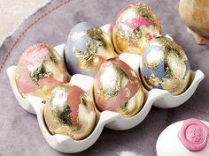 Blattgold-Eier