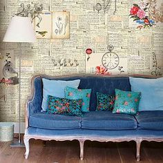 Feeling Papergood Wallpaper By PiP Studio do this in a window with newspapers.