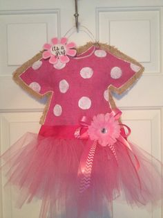 It's a girl tutu burlap door hanger...another awesome creation by Paige!