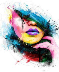 Cuadros Modernos Pinturas y Dibujos : Los mejores dibujos y pinturas de caras con estilo moderno