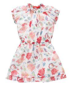 Look what I found on #zulily! White & Pink Danita Dress - Toddler & Girls by Oilily #zulilyfinds