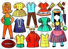 Muñecas recortables de la década de 1960