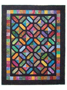 Pieced Lap Quilt & Throw Patterns - Carrefour Quilt Pattern