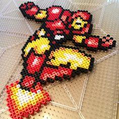 Iron Man perler beads by derekbryan144