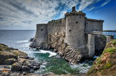 "castle of the Isle of Yeu - Pinned by Mak Khalaf The Vieux-château de l'île d'Yeu (""Old castle of the Isle of Yeu"") is a fortification île d'Yeu off the French Atlantic coast in the département of Vendée. Olivier IV de Clisson a great builder of castles undertook the work with the aim of protecting the islanders in the event of foreign invasion. The longest of these had been led by the famous English pirate Robert Knolles who managed to seize the castle in 1355 and occupied the island for 37…"