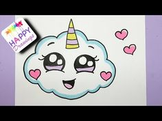Really easy drawings how to draw a super cute cloud emoji unicorn - easy dr Cute Easy Drawings, Cute Kawaii Drawings, Drawing Cartoon Characters, Cartoon Drawings, Cloud Emoji, Photo Kawaii, 365 Kawaii, Desenhos Love, Cloud Drawing