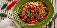 Wok, Japchae, Ethnic Recipes, Red Peppers