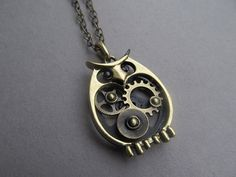 Hey, I found this really awesome Etsy listing at https://www.etsy.com/listing/112642901/steampunk-owl-necklace-clock-parts