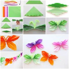 DIY Easy Folded Paper Butterflies | iCreativeIdeas.com Like Us on Facebook ==> https://www.facebook.com/icreativeideas