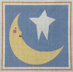 melissa shirley needlepoint canvas Needlepoint Canvases, Stars And Moon, Fun Ideas, Superhero Logos, Activities For Kids, Needlework, Stitches, Clever, Embroidery