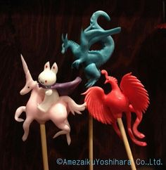 Japanese Traditional Lollipops by Amezaiku Yoshihara - Imaginary Animals