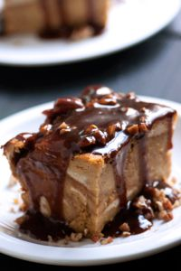 DeLallo Fall Dessert Recipe: Pumpkin Spice Bread Pudding with Pecans & Balsamic Caramel Fall Desserts, Cookie Desserts, Just Desserts, Delicious Desserts, Dessert Recipes, Pumpkin Recipes, Fall Recipes, Holiday Recipes, Pumpkin Spice Bread