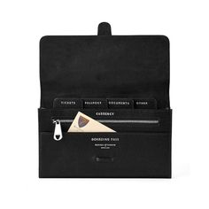 be8c216850b74 Classic Travel Wallet in Black Saffiano   Black Suede