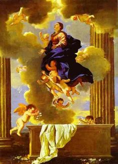 Assumption of the Virgin via Nicolas Poussin Medium: oil, canvas