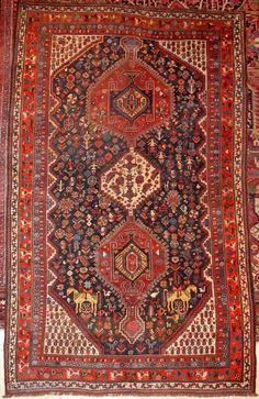 Qashqai, ca 1920 Persian Carpet, Persian Rug, Carpet Flooring, Rugs On Carpet, Asian Rugs, Homemade Home Decor, Silk Road, Tribal Rug, Iranian