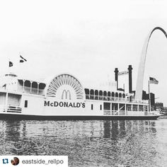 #Repost @eastside_rellpo  80s baby raised in the 90s.  Who all remembers #mcdonalds on the riverfront. #arch #sostl #stl #estl #tbt