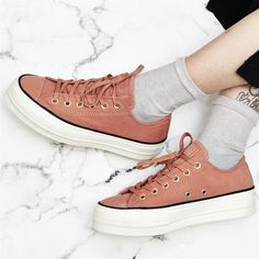 711de1a9b456 Converse All Star Low Platform Trainers Pink Blush Black Egret Exclusive - Hers  trainers