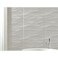 idole tear gray ceramic wall tile - 12in. x 24in