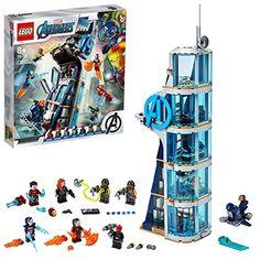 LEGO 76166 Marvel Avengers La tour de combat des Avengers V29 avec Iron Man Black Widow et Red Skull Lego Marvel's Avengers, Univers Marvel, Black Widow, Crane Rouge, Iron Man, The Infinity Gauntlet, Die Rächer, Superhero Characters, Lego Models