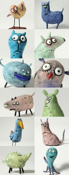 Latest Absolutely Free Clay Crafts for kids Style Craft clay kids art projects 49 trendy Ideas Kids Clay, Clay Projects For Kids, Clay Crafts For Kids, Felt Crafts, Ceramics Projects, Sculpture Projects, Sculpture Clay, Toy Art, Clay Animals