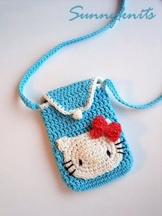Crochet Hello Kitty Pouch