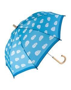 This umbrella is the best accessory for fun-time rain and sun play! Kids can operate the umbrella themselves with a pinch-proof open/close slider mechanism. Curved wooden handle is easy for little han