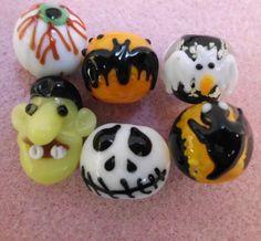 6 Halloween Stunning Lampwork Beads. Starting at $5 on Tophatter.com!