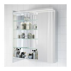 "GODMORGON Mirror cabinet with 2 doors - -, 27 1/2x5 1/2x37 3/4 "" - IKEA Again - make sure you look at the 27 1/2"" cabinet... Here you see it mirrored on the inside."