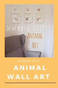 NURSERY HACK: Animal Wall Art Nursery Crafts, Nursery Art, Animal Nursery, Nursery Inspiration, Craft Projects, Hacks, Wall Art, Daddy, Inspire