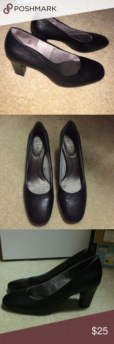 "Lifestride black pumps Lifestride soft system 3"" black pumps. Worn once. Excellent condition. Life Stride Shoes Heels"