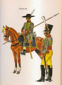 Spanish; Lancer & Officer of the Lancers of Don Juan Sanchez 1808