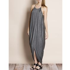 """""""At Last"""" Draped Front Maxi Dress Draped front tulip maxi dress with a shorter dress lining. Available in charcoal and olive. This listing is for the CHARCOAL. Brand new. True to size. NO TRADES DON'T ASK. Approximately 62 inches long Bare Anthology Dresses Maxi"""