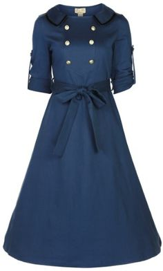 Lindy Bop 'Velma' Vintage WW2 1940's Style Double Breasted Military Tea Dress (XS, SLATE BLUE) Lindy Bop,http://www.amazon.com/dp/B00FGST61K/ref=cm_sw_r_pi_dp_sk3Gsb09B0W69GTF