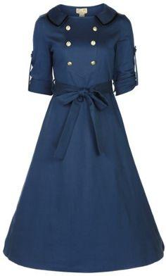 Lindy Bop 'Velma' Vintage WW2 1940's Style Double Breasted Military Tea Dress (XS, SLATE BLUE) Lindy Bop,http://www.amazon.com/dp/B00FGST61K/ref=cm_sw_r_pi_dp_sk3Gsb09B0W69GTF