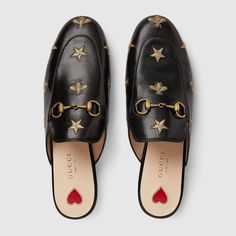 Gucci Princetown embroidered leather slipper Detail 3