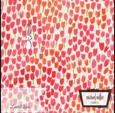 Kinderstoffe - Stoff Michael Miller Sommer Tulip Tangled Tulpen - ein Designerstück von LottiKlein bei DaWanda