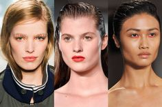The Top Hair and Makeup Trends from New York Fashion Week - Spring 2015 Beauty Trends