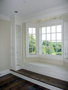 A home may not always be complete without a bay window seat. Whether it is a house or an apartment, you can have at least one. Make sure that these bay window seats are suitable for the whole conce… Home Decor Kitchen, Home Decor Bedroom, Master Bedroom, Home Renovation, Home Remodeling, Bay Window Living Room, Window Benches, New Homes, House Design